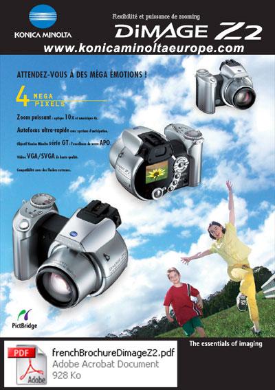 Mode d'emploi et Brochures du Konica Minolta Dimage Z2
